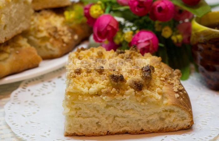рецепт дрожжевого пирога с яблоками