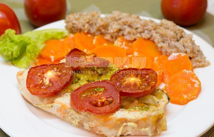 рецепт семги в сметане с помидорами