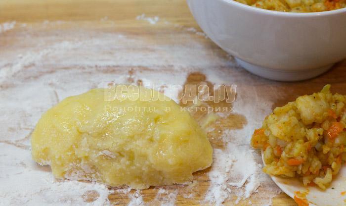 Картофельные котлеты с начинкой из фарша