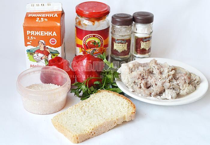 необходимые ингредиенты для тефтелей в томатном соусе: