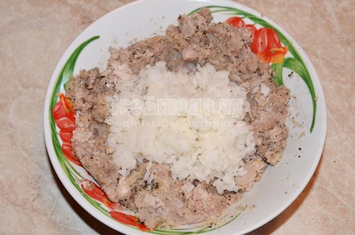 добавьте рис