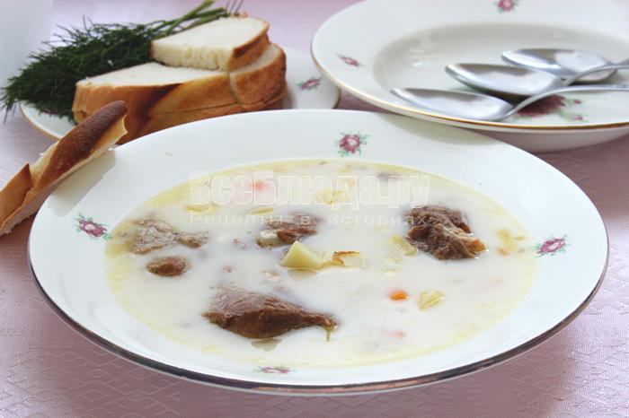 рецепт сырного супа с тушенкой
