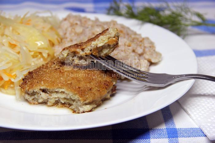 Необычные котлеты из мяса и рыбы Сюрприз