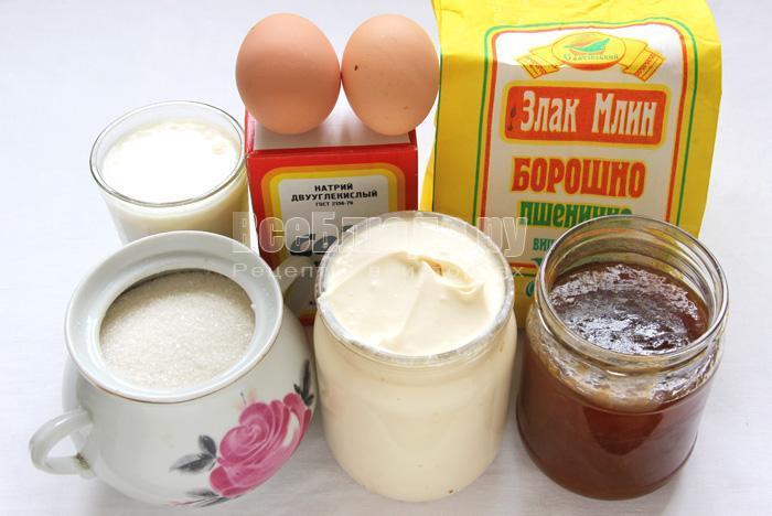 продукты для торта негр в пене