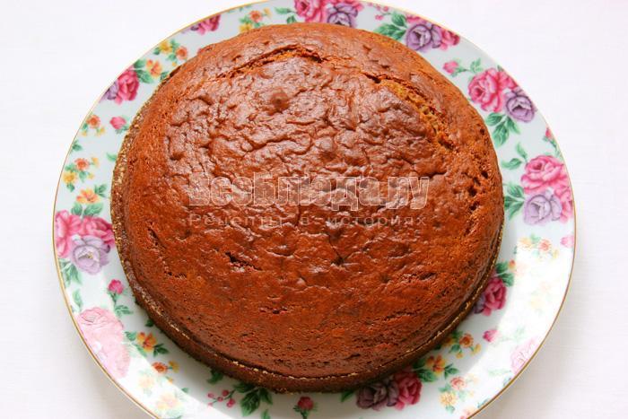 Торт Негр в пене с вареньем