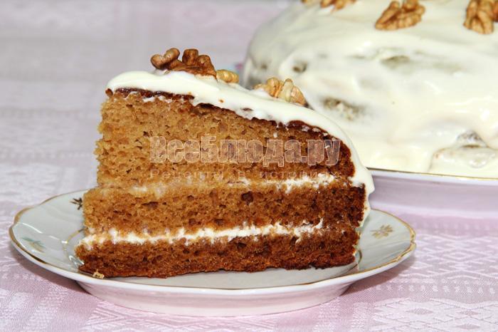 негр в пене рецепт торта с вареньем