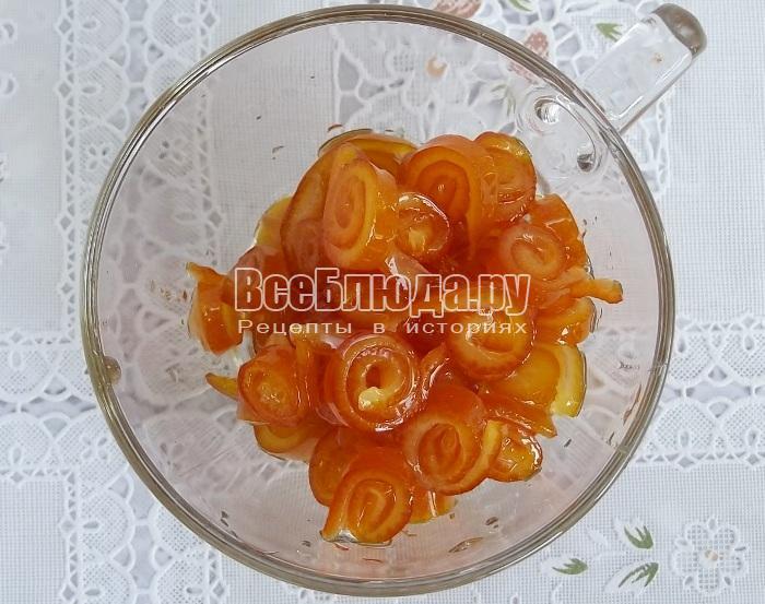 Экономичное варенье из апельсиновых корок - веселые завитушки